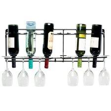 Vin-Array 6 Bottle Wall Mount Wine Glass Rack