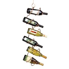 Climbing Tendril 6 Bottle Hanging Wine Rack