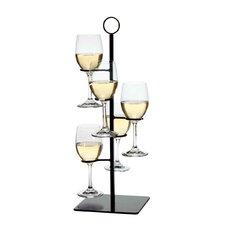 Amelia Flight Server 5 Bottle Tabletop Wine Rack