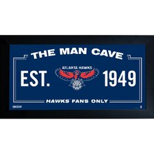 NBA Framed Man Cave Sign Memorabilia