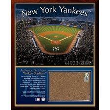 Original Yankee Stadium Dirt Graphic Art Plaque