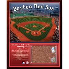 Fenway Park Dirt Graphic Art Plaque