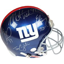 Decorative Eli Manning/Michael Strahan/Justin Tuck/ Tom Coughlin Signed Authentic Helmet