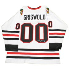 "Chevy Chase Signed ""Griswald"" Chicago Blackhawks Jersey"