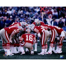 Joe Montana San Francisco 49ers Huddle Photo Graphic Art