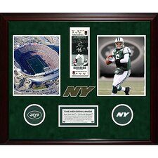 Jets Final Ticket Collage with Ticket Turf Logos and Nameplate Memorabilia