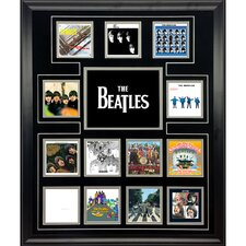 The Beatles 'UK Album Discography Collage' Framed Wall Art