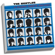 The Beatles 'A Hard Day's Night' Memorabilia on Wrapped Canvas