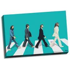 The Beatles 'Green Horizon Abbey Road' Graphic Art on Wrapped Canvas