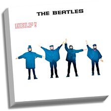 The Beatles 'HELP!' Graphic Art on Wrapped Canvas
