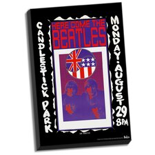 The Beatles 'Candlestick Park Final Concert' Vintage Advertisement on Wrapped Canvas
