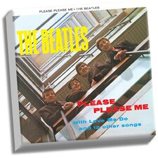 The Beatles 'Please Please Me' Graphic Art on Wrapped Canvas