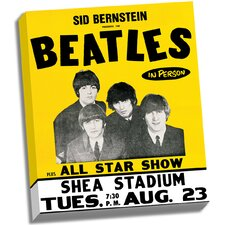 The Beatles 'Shea Stadium' Vintage Advertisement on Wrapped Canvas