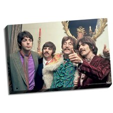 The Beatles 'Thumbs Up' Photographic Print on Canvas
