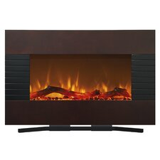 Mahogany Wall Mount Electric Fireplace