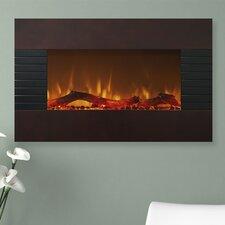 Mahogany Wall Mount Electric Fireplace