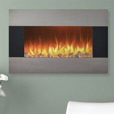 Steel Electric Fireplace