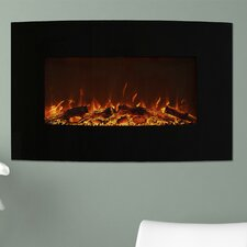Curved Wall Mount Electric Fireplace