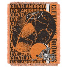 NFL Cleveland Browns Triple Woven Jacquard Throw Blanket
