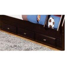 3 Drawer Under Bed Storage Unit