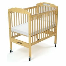 Adjustable Fixed-Side Convertible  Crib with Mattress