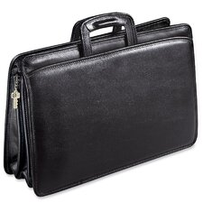 University Triple Gusset Leather Briefcase
