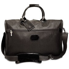 "Nevada 18"" Patent Leather Weekender Duffel with 3 Way Zip"
