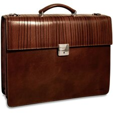 Monserrate Double Gusset Leather Briefcase
