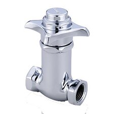 Self Closing Straight Stop Faucet in Polished Chrome