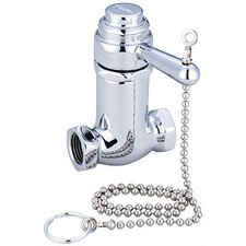 Self Closing Shower Stop Faucet with Pull Chain in Polished Chrome
