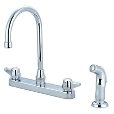 Double Handle Centerset Standard Kitchen Faucet with Side Spray