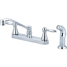 Double Handle Centerset Kitchen Faucet with Side Spray