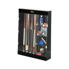 Display Cases Ten Cue Wall Mount Display Case with Accessory Shelves