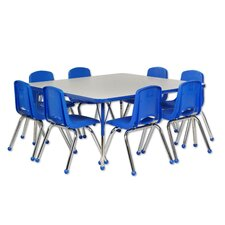 9 Piece Square Activity Table & Chair Set