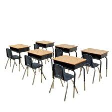 Laminate Adjustable Height Combo Desk
