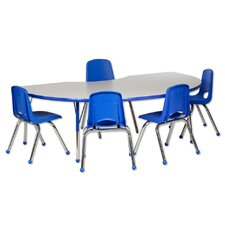 6 Piece Kidney Activity Table & Chair Set