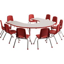 10 Piece Horseshoe Activity Table & Chair Set
