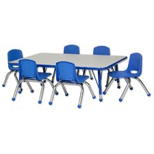 7 Piece Rectangular Activity Table & Chair Set