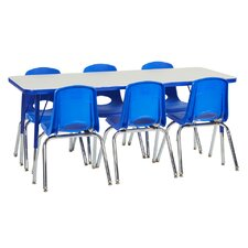 7 Piece Rectangular Activity Table & Chair Set