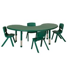 5 Piece Kidney Activity Table & Chair Set