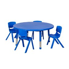 5 Piece Round Activity Table & Chair Set