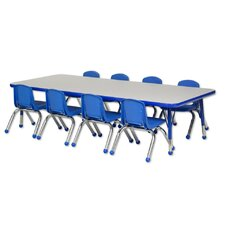9 Piece Rectangular Activity Table & Chair Set