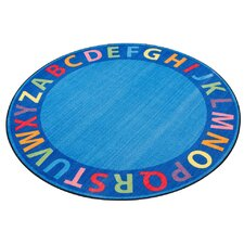 A-Z Circle Time Seating Blue Area Rug
