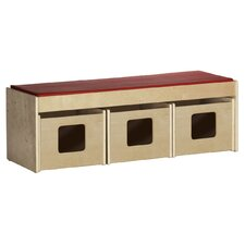 "18.75"" Fabric Classroom Bench"