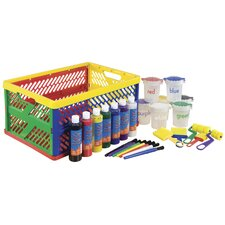 27 Piece Paint Set in Large Storage Crate