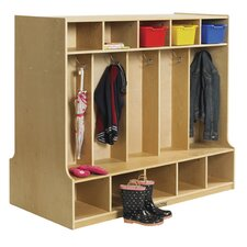 1 Tier 5-Section Double Sided Coat Locker