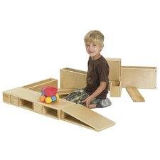 18 Piece Hollow Wooden Block Set
