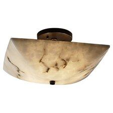 LumenAria Ring 2 Light Semi Flush Mount