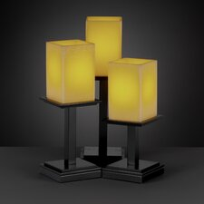 """CandleAria Montana Portable 16.75"""" H Table Lamp with Rectangular Shade (Set of 3)"""