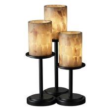 """Alabaster Rocks Dakota Portable 16"""" H Table Lamp with Drum Shade (Set of 3)"""